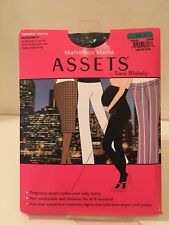 Assets by Sara Blakely Marvelous Mama Black Maternity Terrific Tights Size 3