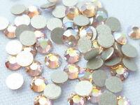 1000Pcs Nail Art Flatback Crystal AB 14 Facets Resin Round 4mm Rhinestone Beads