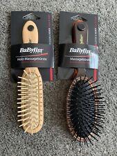 Bnwt Babyliss Paris Massage Hair Brushes New x2 Bundle