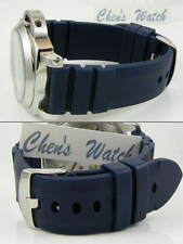 HQ 24MM BLUE RUBBER WATCH BAND STRAP w/22 MM CLASP FOR PAM 24 MM LUG