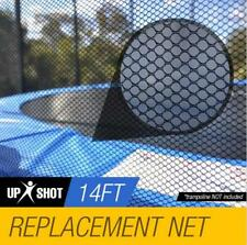 14ft Trampoline Safety Net Round Spare Part Enclosure 12 Net Pole Replacement