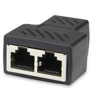 1 to 2 Port RJ45 LAN Ethernet Network Connector Splitter Extender Adapter Cables