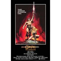 "CONAN THE BARBARIAN - MOVIE POSTER - SCHWARZENEGGER - 91 x 61 cm 36"" x 24"""