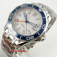 41mm bliger sterile white dial sapphire glass GMT function automatic mens watch