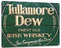 TULLAMORE DEW TIN SIGN 1829 DISTILLERY IRISH WHISKEY IRELAND  PUB BAR BARREL