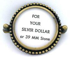 SILVER DOLLAR 39MM CAB CABOCHON GEMSTONE GEM STONE BOLO BOLA TIE MOUNTING CF523