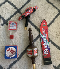 Budweiser Beer Tap Handle , Knob ,And Coasters