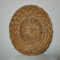Basket Wicker Rattan Woven Vintage Wall Décor Boho Handmade Easter 13X9X5