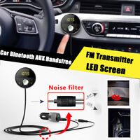 Dual USB In-Car Wireless Bluetooth FM MP3 Radio Player Car Kit phone Charger