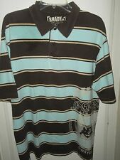 Shady Limited Edition LARGE Brown Blue Poloi Shirt Marshall Mathers Graphics