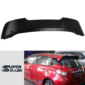 Fit For Toyota 3rd Yaris 4DR Hatchback Paint Rear Trunk Roof Wing Spoiler LE SE