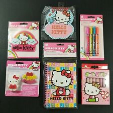 Samrio Hello Kitty Journal Eraser Highlighters Note Pad Magnet Crayons Lot New