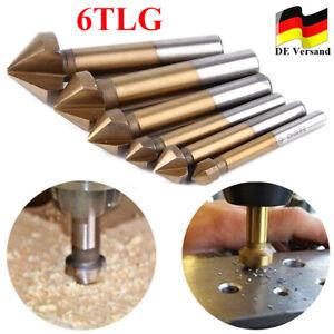 6tlg HSS Kegelsenker Senker Senkbohrer Entgratsenker Holz Metall 6.3-20.5mm 90°