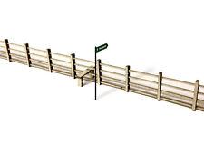 LASER CUT LINESIDE FENCING & STILES OO SCALE / 1:76 MODEL RAILWAY - LX006-TT