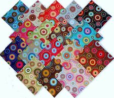 """17 10"""" Quilting Fabric Layer Cake Squares  Lucky Medallions!! NEW ITEM"""