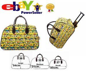 Kids Girls Boys Hand Luggage Minion Print Design Travel Handbag Trolley Bag Suit