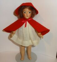 LITTLE RED RIDING HOOD Composition Doll Vintage MBC NY Beehler Arts Co.