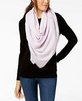 INC Womens Ombre Metallic Foil Oversized Square Scarf Purple One Size