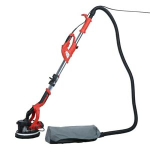 1250W Telescopic Drywall Sander Electric LED Dust Free Wall Ceiling Plaster Disc