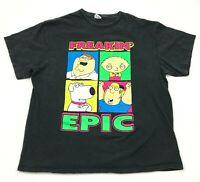 Family Guy Shirt Men's Size Extra Large XL Adult Black Short Sleeve Graphic Tee