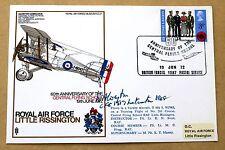RAF LITTLE RISSINGTON  COVER SIGNED WW1 VETERAN AIR Chf Mshl SIR WILLIAM CORYTON