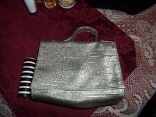 Lancome shimmery shiney purse or makeup bag about 6 L x 4 H cute BONUS lip stick