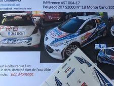 DECALS CALCA 1 43 PEUGEOT 207 S2000 LAIVOLA N° 18 Rallye WRC monte carlo 2012