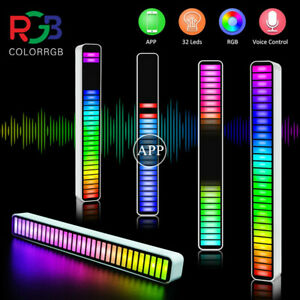 Car APP Control RGB 32LED Voice-Activated Pickup Rhythm Light Music Ambient Lamp