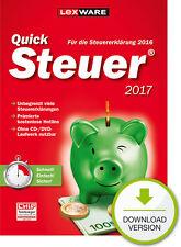 Lexware QuickSteuer 2017 (für Steuerjahr 2016) Win ESD Download-Lizenz / KEY
