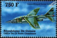 Dassault-Breguet Dornier Alpha Jet Aircraft Stamp (2002 Guinea)