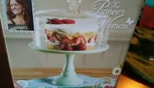 Pioneer Woman Timeless Beauty cake stand & glass cover new pedestal pastel green