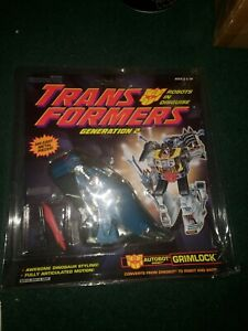 Grimlock turquoise/teal 100% Complete with package Dinobot G2 Transformers READ