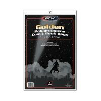 200 BCW GOLDEN AGE COMIC BOOK 2-MIL CLEAR ARCHIVAL POLY BAGS - 7 5/8 X 10 1/2