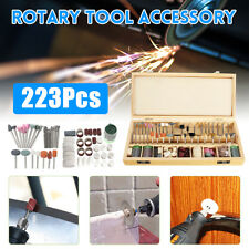 "228pc Rotary Tool Accessory Bit Set w Case 1/8"" Accessories for Dremmel Grinding"