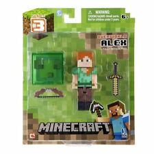 "MINECRAFT OVERWORLD ALEX 3"" FIGURE - ARTICULATED BRAND NEW IN BOX"