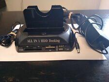 875 All in1 Docking Station Card Reader eSATA Dual IDE SATA Hard Disk Cloning