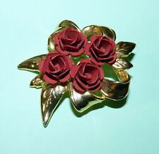 Pin Red Roses 5cm New in gift bag Brooch