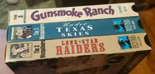 THE 3 MESQUITEERS - 3 VHS Lot Lone Star Raiders/Under Texas Skies/Gunsmoke Ranch