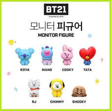 BTS BT21 X Royche New Official Monitor Figure KPOP Goods of RJ KOYA TATA MANG