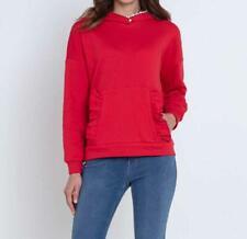 """1.6566 Designer-Sweatshirt mit Spitze und Rüschen """"erdbeerrot"""" Gr. 44"""