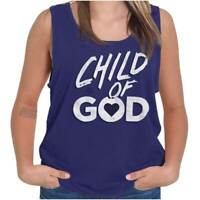 Child Of God Religious Christian Strong Jesus Tank Tops TShirts Tees For Womens