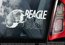 Beagle - Car Window Sticker - English Hound Dog Sign Print Hunting Gift - TYP2