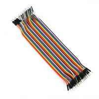 40pcs Color Dupont Cable 2.54 mm 1p 1p 20 Cm una fila de 40 Root Arduino