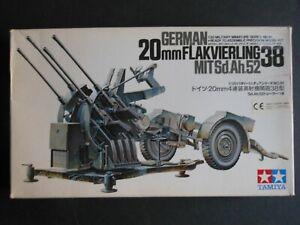 TAMIYA German 20mm Flakvierling 38 MIT Sd. Ah.52 35091 1:35 Model Kit