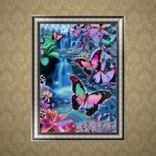 5D Butterfly Waterfall Diamond Embroidery DIY Craft Painting Stitch Home Decor