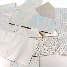 Foiling kit: starter, taster selection pack of silver rub on foils - card craft