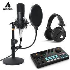 Podcast Microphone Kit Condenser Studio Professional Mic for YouTube Video ASMR