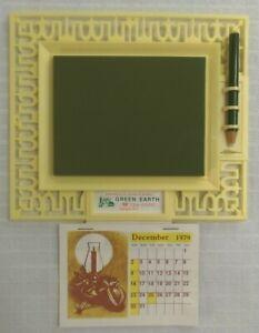 Vintage Advertising Sample Calendar 1979/80 Miniature Chalk Board REMINDER