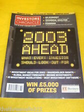 INVESTORS CHRONICLE - BEST INVESTMENT SOFTWARE - DEC 20 2002