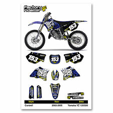 2002-2005 YAMAHA YZ 125-250 Cantrell Motocross Dirt Bike Graphics kit Decal